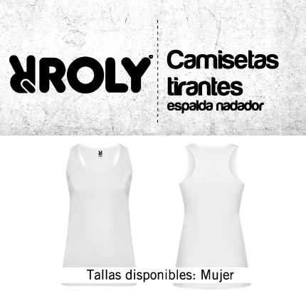 33107af2f10 Camiseta BLANCA ROLY BRENDA de tirante ancho nadador - tienda-markaje