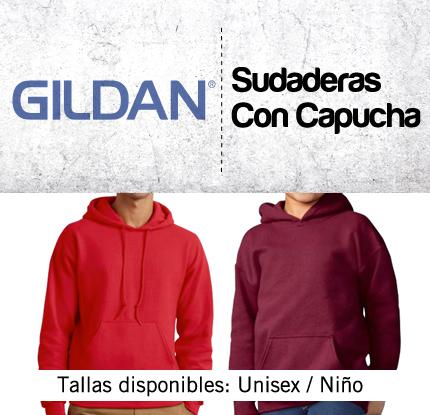 7d0346858c7 Sudadera GILDAN con capucha y bolsillo canguro - tienda-markaje