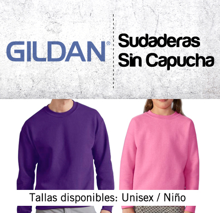 bfe2532624e Sudadera GILDAN sin capucha - tienda-markaje